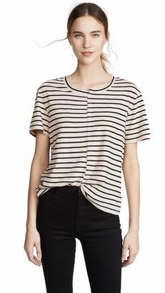 Splendid Women's Split Neck Crewneck Short Sleeve Tee T-Shirt