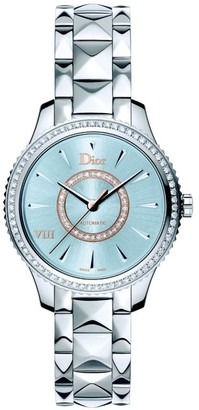 Christian Dior VIII Montaigne Diamond, Mother-Of-Pearl & Two-Tone Stainless Steel Automatic Bracelet Watch