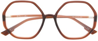 Christian Dior SoStellaireO5 hexagonal-frame glasses