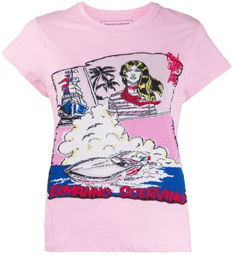Ermanno Scervino knitted graphic T-shirt