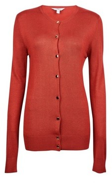 Dorothy Perkins Womens Tall Rust Core Button Cardigan