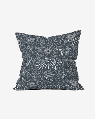 Express Deny Designs Botanical Sketch Midnight Throw Pillow