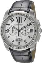 Cartier Men's W7100046 Analog Display Automatic Self Wind Black Watch