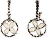 John Hardy Enamel Flower Drop Earrings