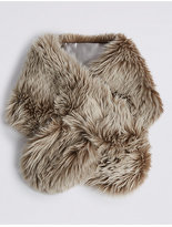 M&S Collection Faux Fur Slot Through Scarf
