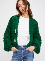 Free People Cropped Cable Cardi