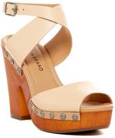Lucky Brand Nessah Embossed Leather Platform Sandal