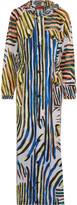 Missoni Printed silk hooded coat