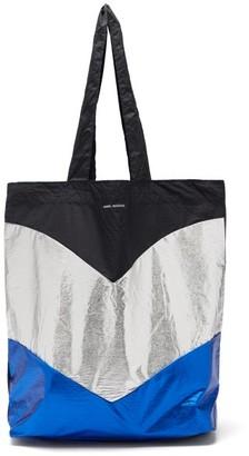 Isabel Marant Woom Metallic Chevron-panel Tote Bag - Blue Multi