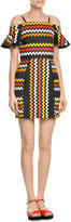 MSGM Zigzag Print Mini-Dress