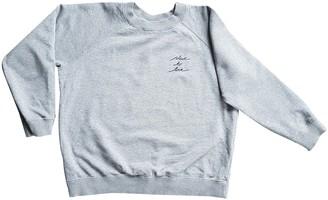 Ganni Grey Cotton Knitwear for Women
