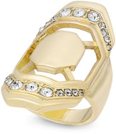 Thalia Sodi Gold-Tone Pavé Geometric Statement Ring, Created for Macy's