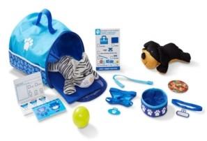 Melissa & Doug Tote & Tour Pet Travel Play Set With 2 Plush Stuffed Animals (15 pcs)