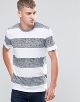 Jack & Jones T-shirt With Marl Block Stripe