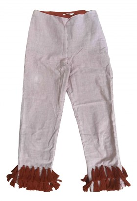 Tularosa Red Cotton Trousers for Women