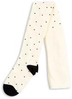 Mini Rodini Black Polka Dot Organic Cotton Tights
