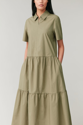 Cos Dress With Gathered Panels