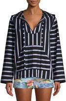 Le Superbe Dukes Baja Striped Hooded Tunic Top