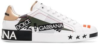 Dolce & Gabbana 'Love' print lo-top sneakers