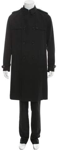 Christian Dior Double-Breasted Wool Trench Coat