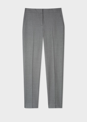 Paul Smith A Suit To Travel In - Women's Classic-Fit Grey Marl Wool Trousers