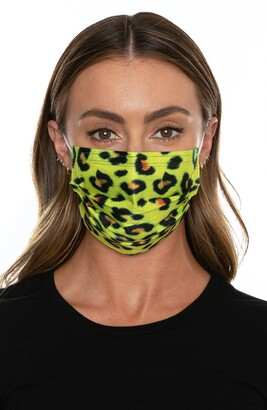 Medipop 5-Pack Disposable Adult Leopard Print Pleated Face Masks