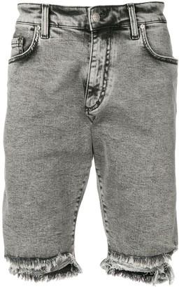 Represent Frayed Denim Shorts
