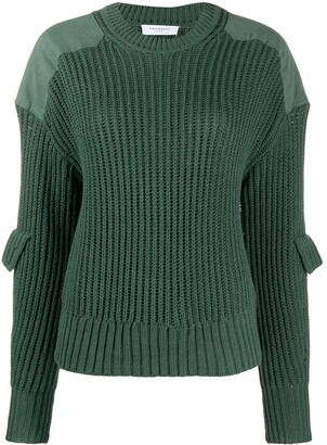 Equipment Long Sleeve Ribbed-Knit Jumper