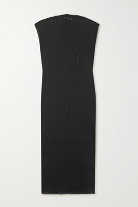 Jil Sander Ribbed Stretch-jersey Maxi Dress - Black