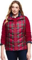 Lands'end Women's Plus Size Petite Print Down Puffer Vest