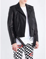 Off-White Arrow leather biker jacket