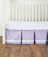 CoCalo Violet Pleated Bed Skirt