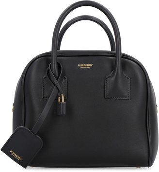 Burberry Cube Leather Boston Bag