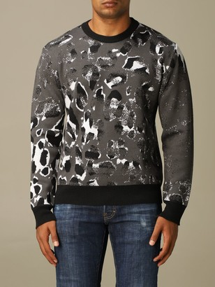 Just Cavalli Sweater Sweater With Animalier Pattern