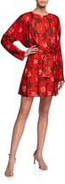 Dodo Bar Or Mika Pleated Floral Long-Sleeve Dress