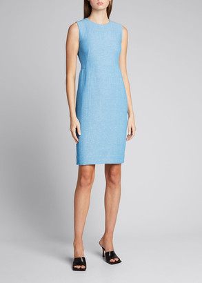 Akris Wool-Blend Sleeveless Sheath Dress