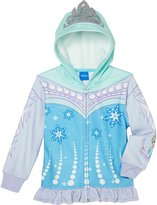 Princess Little Girls' Zip-Up Fleece Hoodie With Mesh Mask
