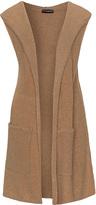 Samoon Plus Size Hooded bouclé sleeveless jacket