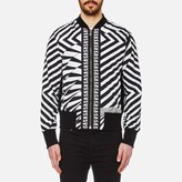Versus Versace All Over Print Bomber Jacket Black/white