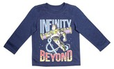 Toy Story Toddler Boys' Buzz Lightyear Long Sleeve Shirt Blue