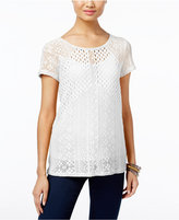 INC International Concepts Mixed-Knit Illusion Top, Only at Macy's