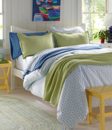 L.L. Bean Sunwashed Percale Comforter Cover, Print