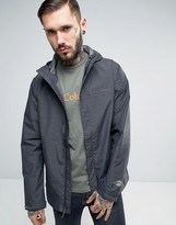 Columbia Watertight Hooded Jacket In Black Marl