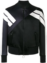 Neil Barrett striped sleeve bomber jacket - men - Silk/Polyamide/Polyester/Viscose - S
