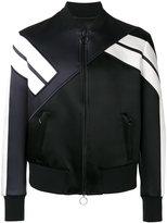 Neil Barrett striped sleeve bomber jacket