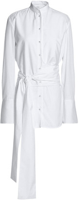 Victoria Victoria Beckham Belted Cotton-poplin Shirt