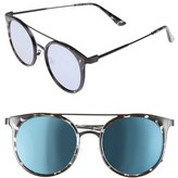 Quay Women's Kandy Gram 51Mm Round Sunglasses - Black Tort/ Blue