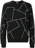 Les Hommes Urban geometric print sweatshirt