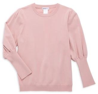 Minnie Rose Little Girl's & Girl's Puff-Sleeve Sweater