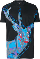 DSQUARED2 abstract elk print t-shirt